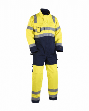 Blaklader 6373 High Visibility Overall (Yellow/Navy Blue)